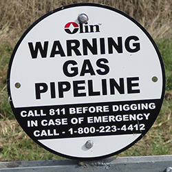 Warning Sign - Gas Pipeline